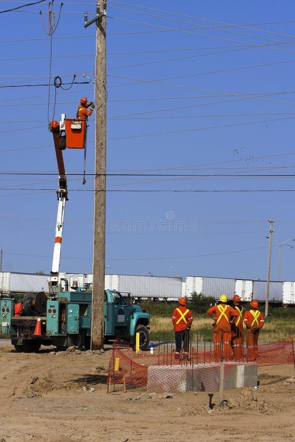 Elektriciens stock afbeeldingen