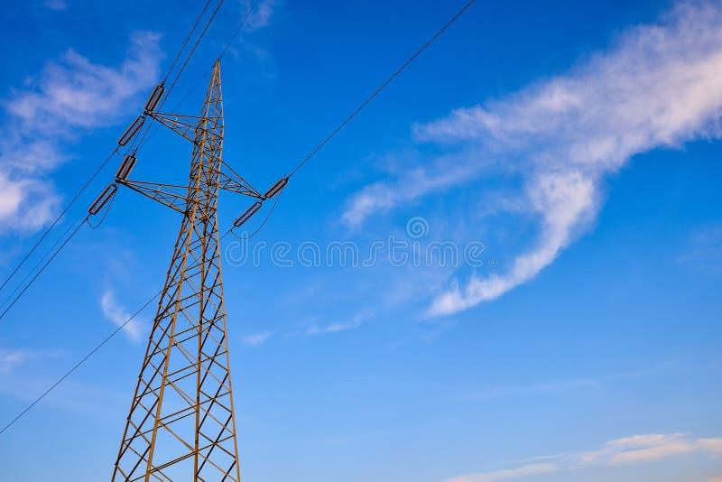 Elektriciteit Pylon Pool royalty-vrije stock fotografie