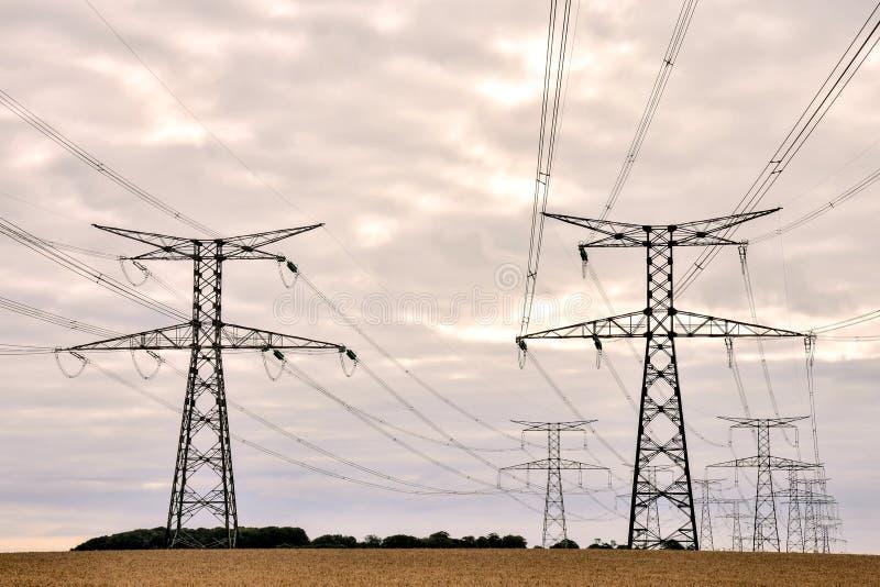 Elektriciteit Pylon Pool stock foto's