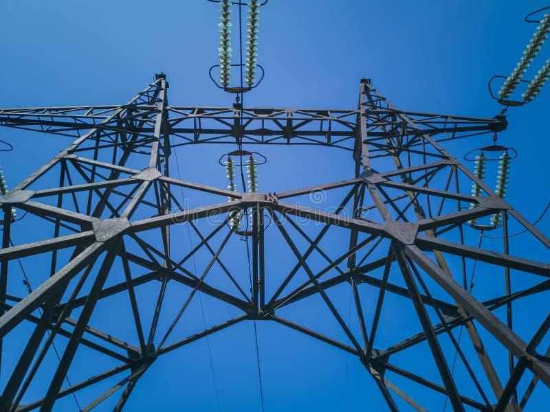 93-elektriciteit Pylonen royalty-vrije stock afbeelding