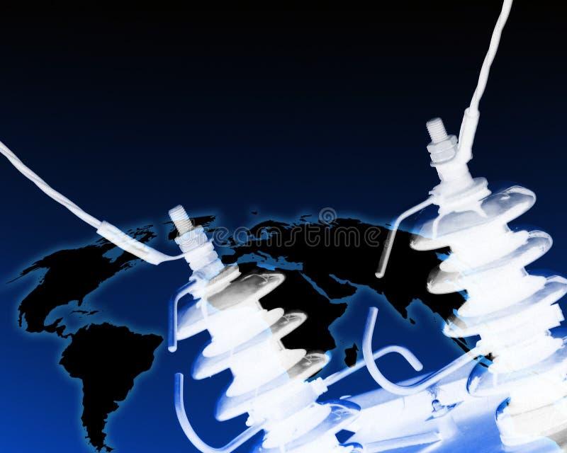 Elektriciteit wereldwijd vector illustratie