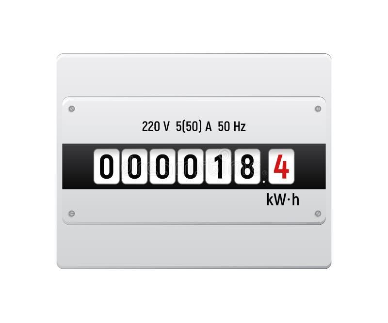 Elektriciteitsmeter vector illustratie