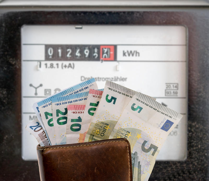 Elektriciteitsmeters royalty-vrije stock foto