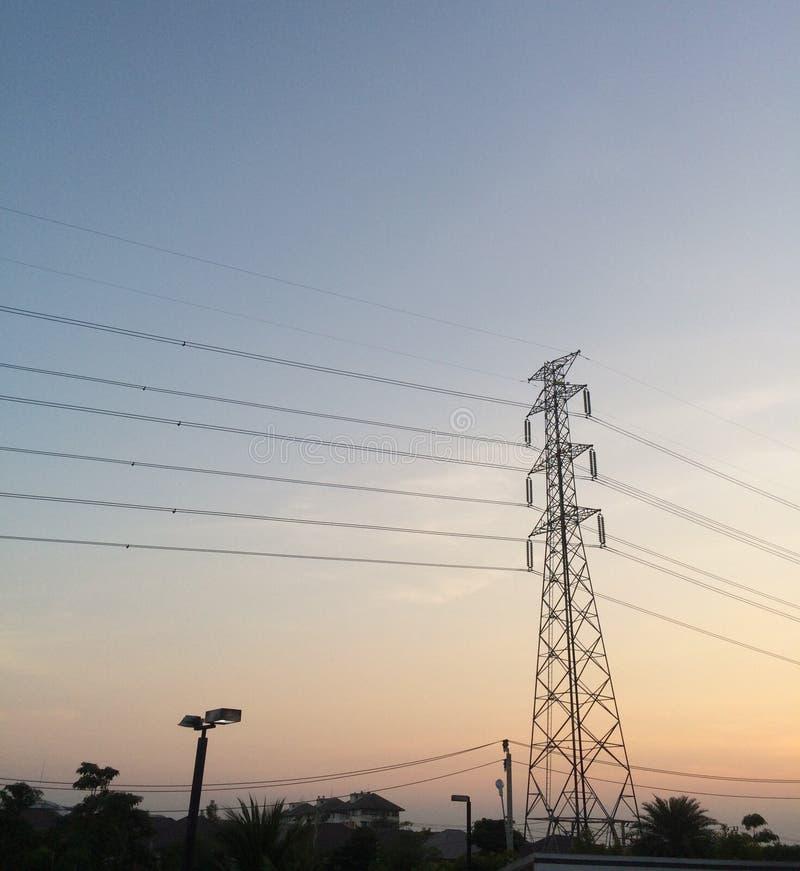 Elektriciteitspool in Thailand royalty-vrije stock afbeeldingen