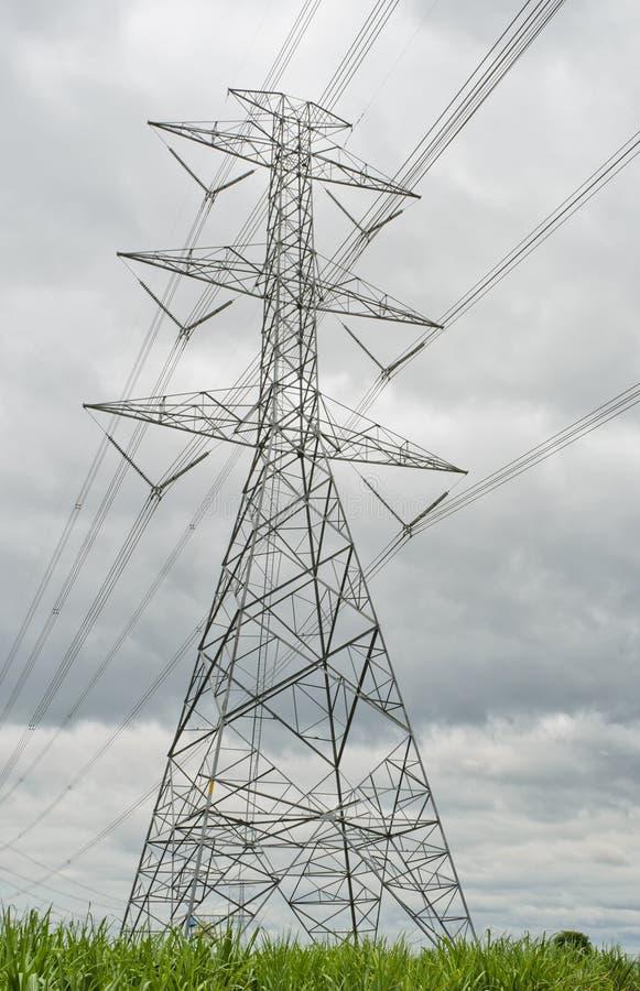 Elektriciteitspyloon stock foto