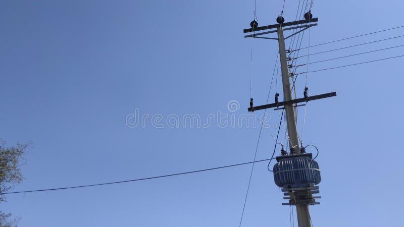 Elektriciteitstransformator stock fotografie