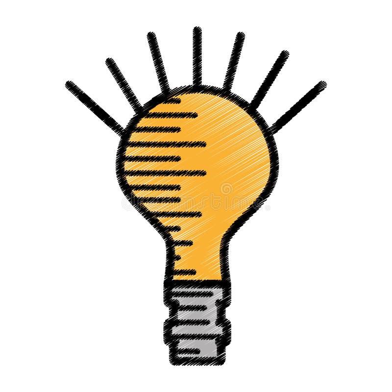 elektricitet för kulaljus skissar stock illustrationer