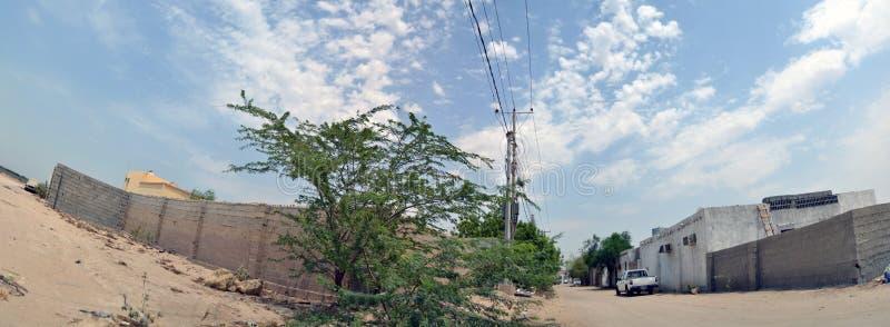 elektricitet jeddah utanför arkivbild