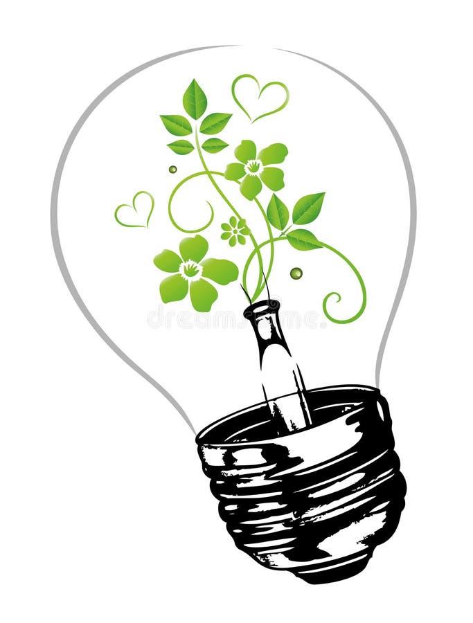 Elektricitet miljömässigt stock illustrationer