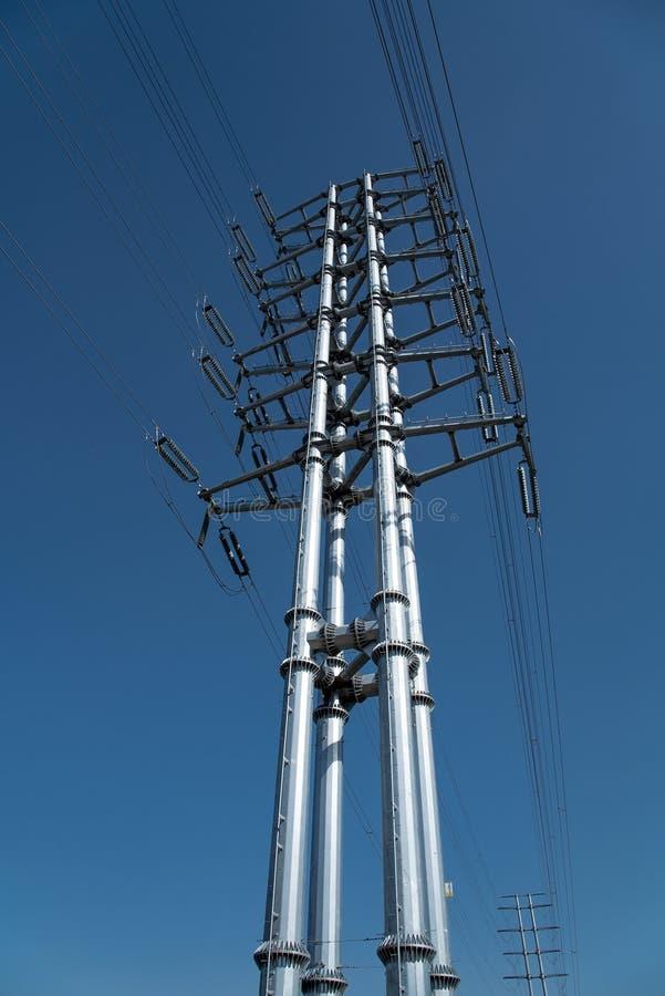 Elektricitet Pole royaltyfri fotografi
