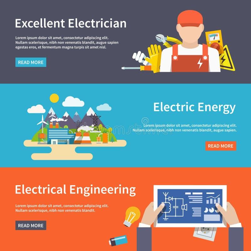 Elektricitetsbaneruppsättning stock illustrationer