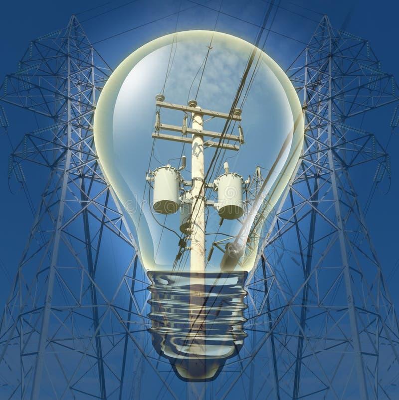 Elektricitetsbegrepp Fotografering för Bildbyråer