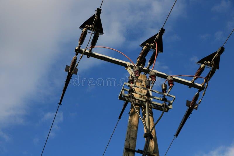 Elektricitetsmast i Tyskland royaltyfri bild