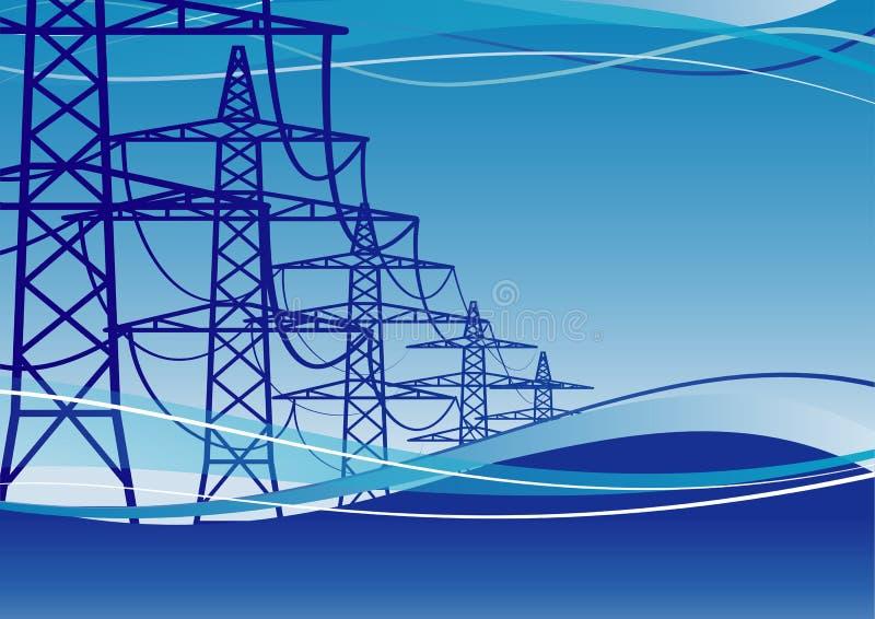 elektricitetspylons vektor illustrationer