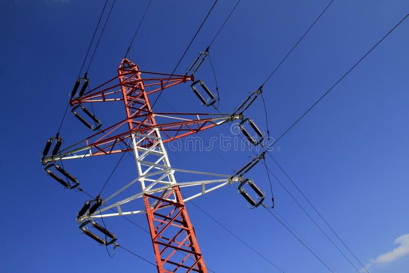 elektricitetsströmpylon royaltyfria foton