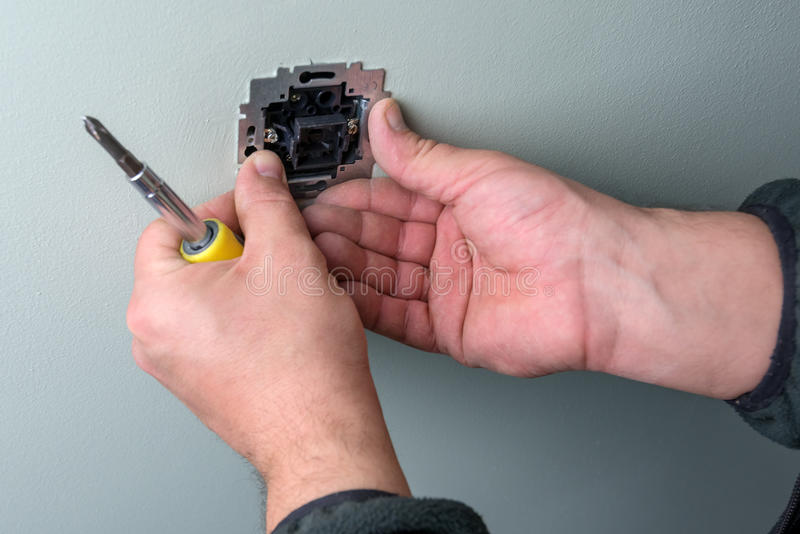 elektriker arkivfoto