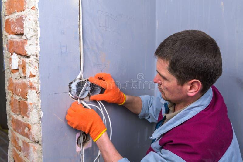 elektriker royaltyfri foto