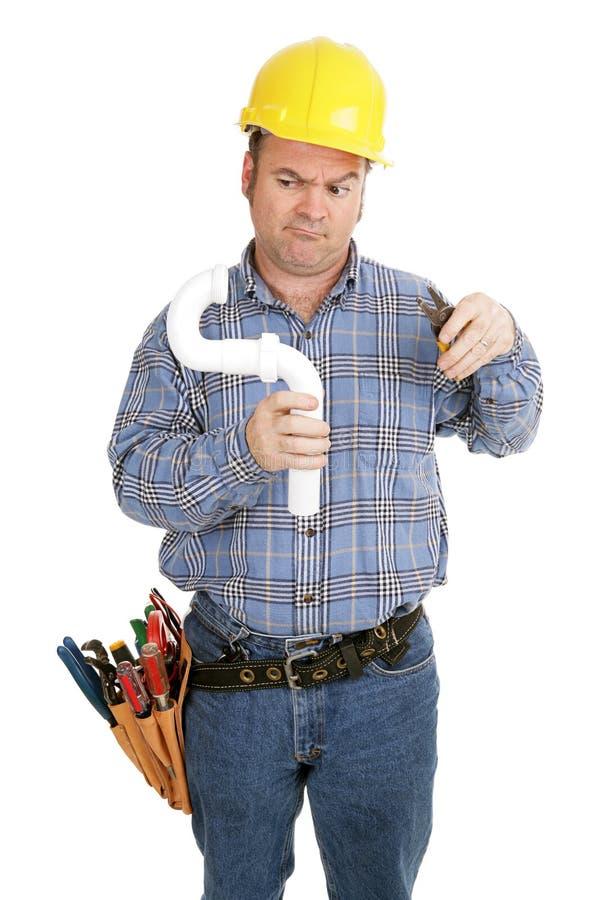 Elektriker u. Klempnerarbeit stockbild