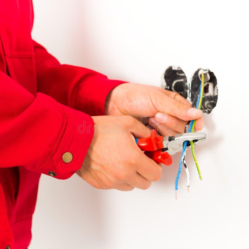Elektriker Working fotografering för bildbyråer