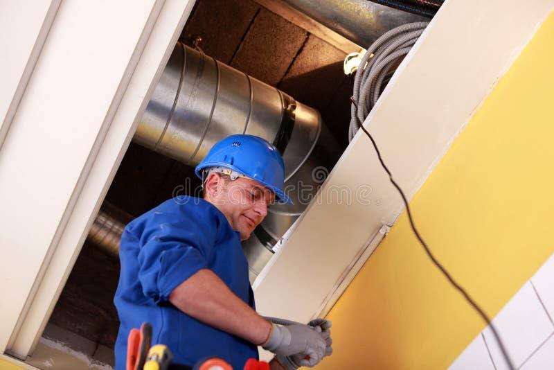 Elektriker Working stockfotos