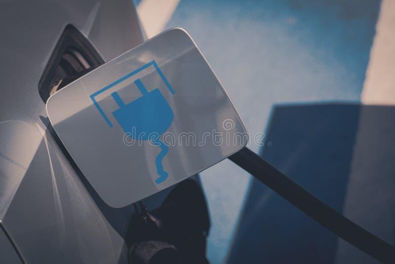 Elektrisch autoteken stock afbeelding