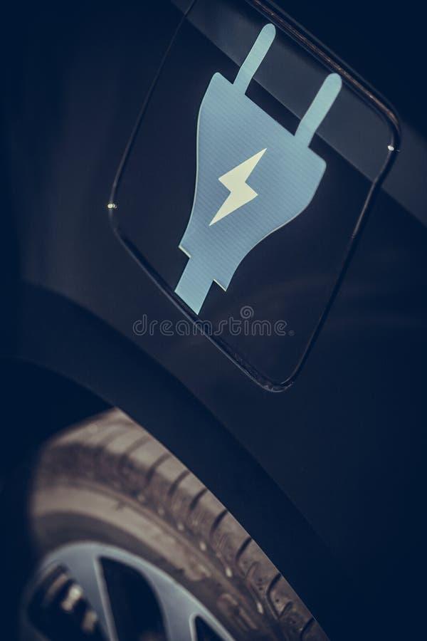 Elektrisch autoteken royalty-vrije stock foto
