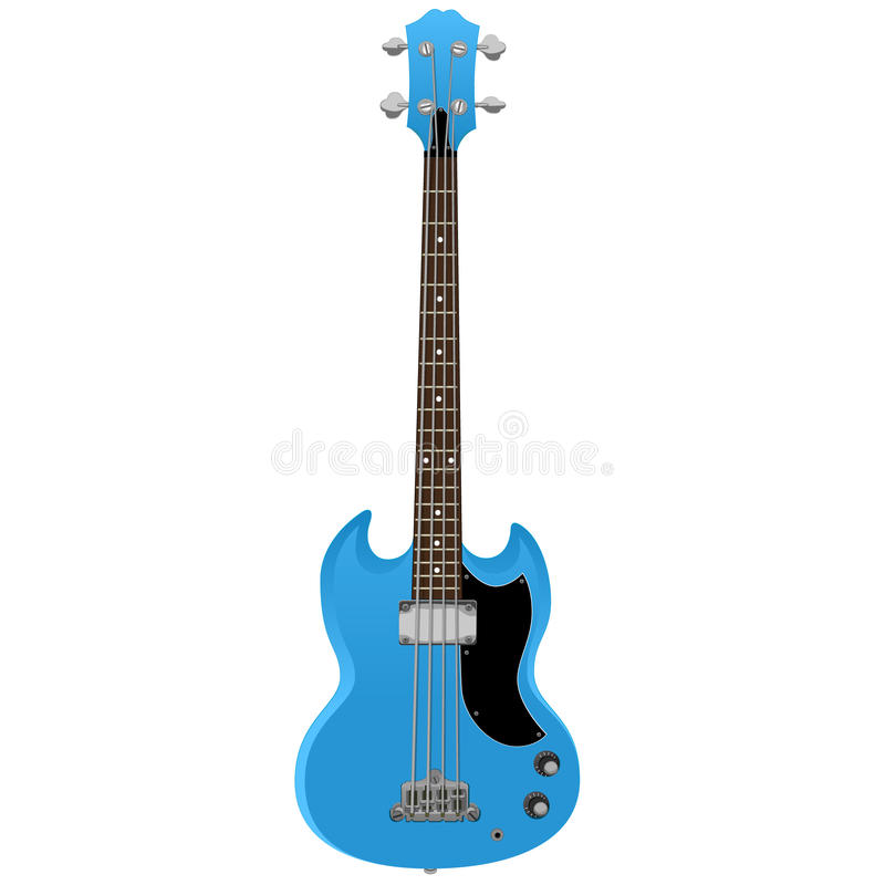 Elektrisch Bass Guitar stock illustratie
