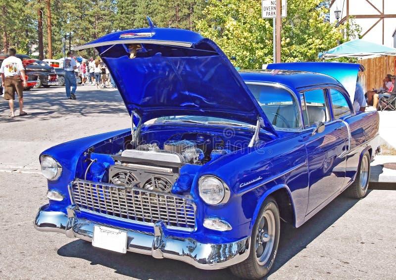 Elektrisch Blauw Chevrolet royalty-vrije stock afbeeldingen