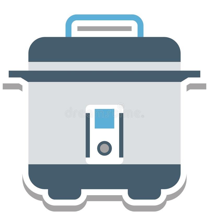Elektrisch Braadpan Geïsoleerd Vector editable Pictogram stock illustratie