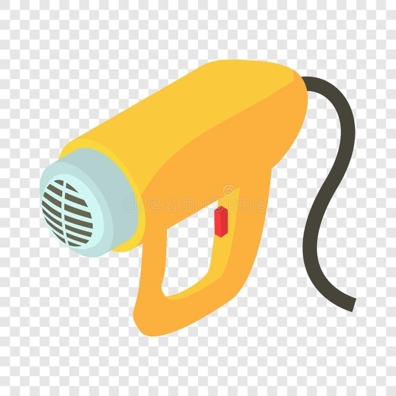 Elektrisch droger pictogram, isometrische 3d stijl vector illustratie