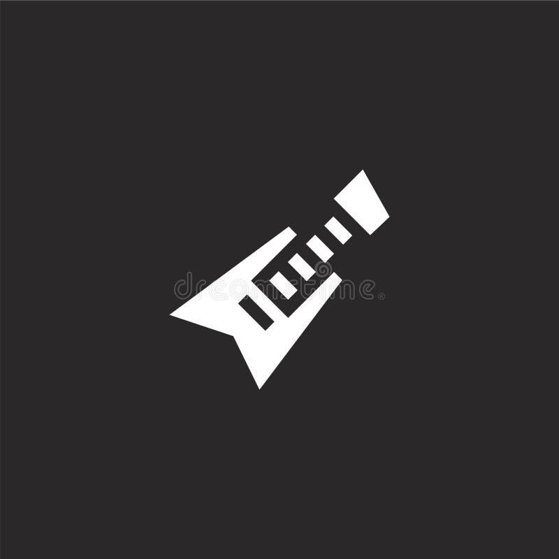 Elektrisch gitaarpictogram Gevuld elektrisch gitaarpictogram voor websiteontwerp en mobiel, app ontwikkeling elektrisch gitaarpic royalty-vrije illustratie