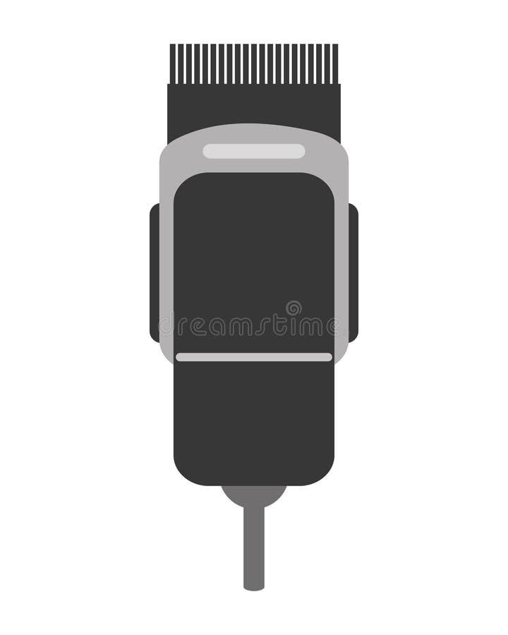 elektrisch haarclipper pictogram stock illustratie