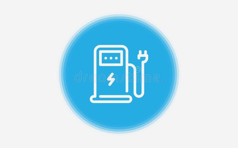 Elektrisch het tekensymbool van het postpictogram stock illustratie