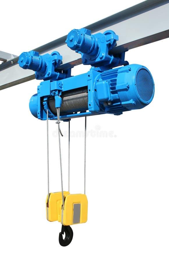 Elektrisch hijstoestel stock afbeelding