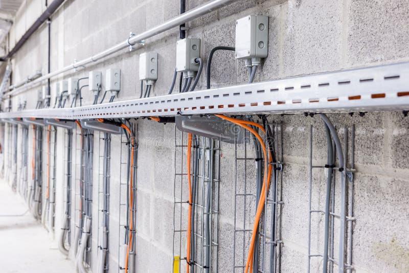 Elektrisch kabelkanaal stock fotografie
