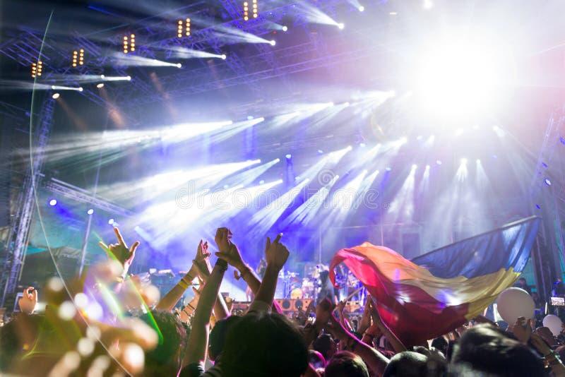 Elektrisch Kasteelfestival, Roemenië royalty-vrije stock foto