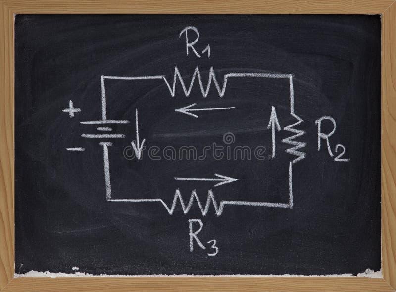 Elektrisch kringsschema op bord royalty-vrije stock foto's