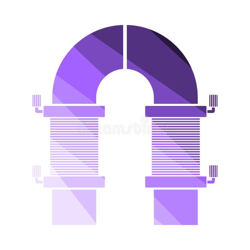 Elektrisch magneetpictogram royalty-vrije illustratie