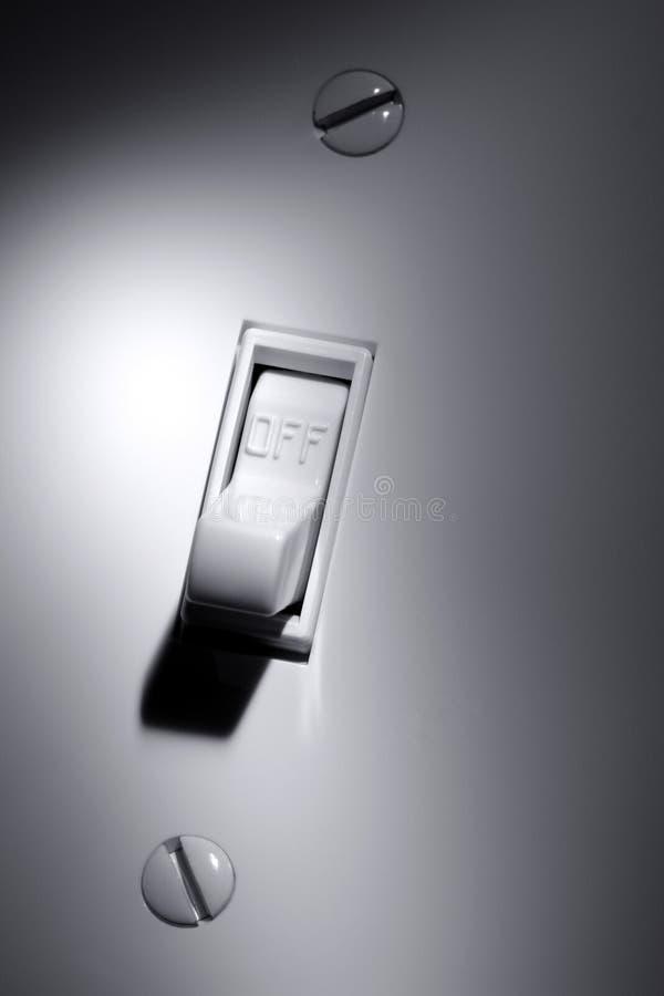 Elektrisch schakel uit royalty-vrije stock fotografie