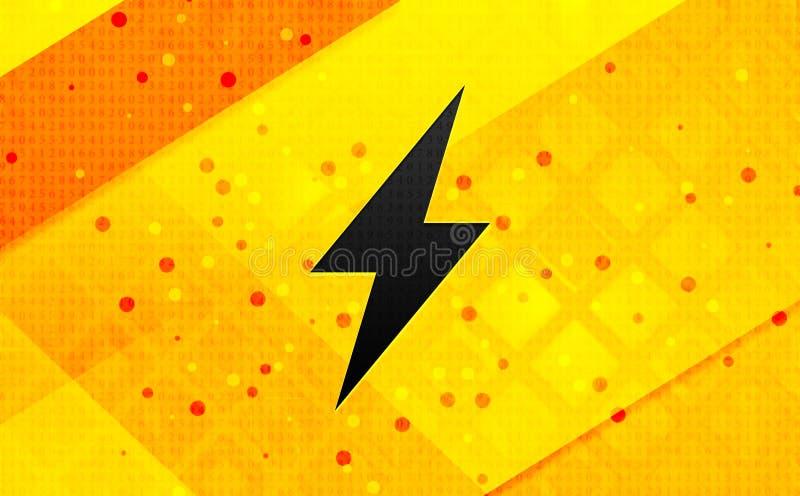 Elektrische abstracte digitale de banner gele achtergrond van het boutpictogram royalty-vrije illustratie