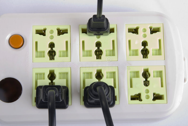 Elektrische afzet stock foto's