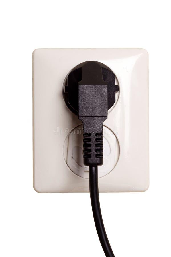 Elektrische afzet met stop stock foto
