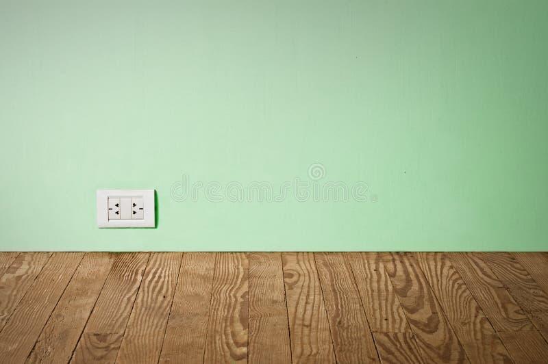 Elektrische afzet in oude muur. royalty-vrije stock foto
