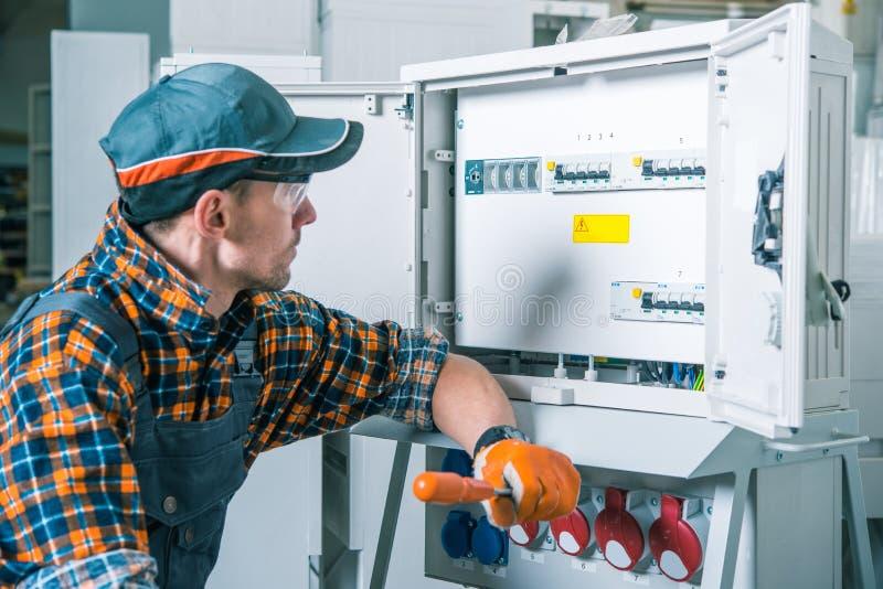 Elektrische Arbeidersbaan royalty-vrije stock fotografie