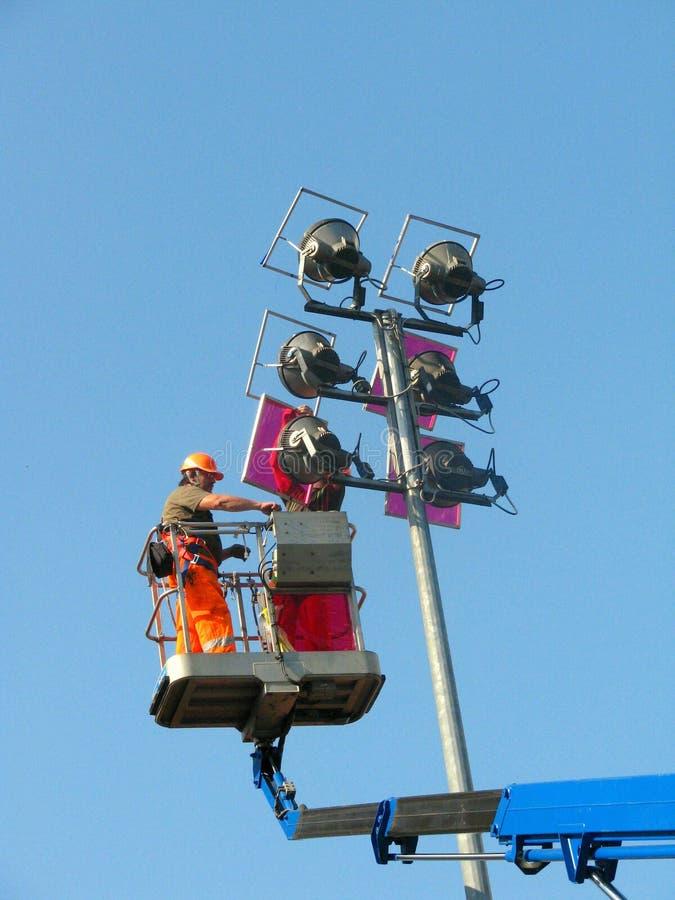 Elektrische Arbeitskraft lizenzfreies stockfoto