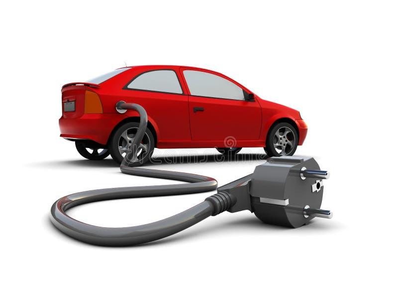 Elektrische auto royalty-vrije illustratie