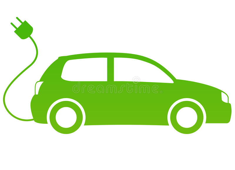 Elektrische auto stock illustratie