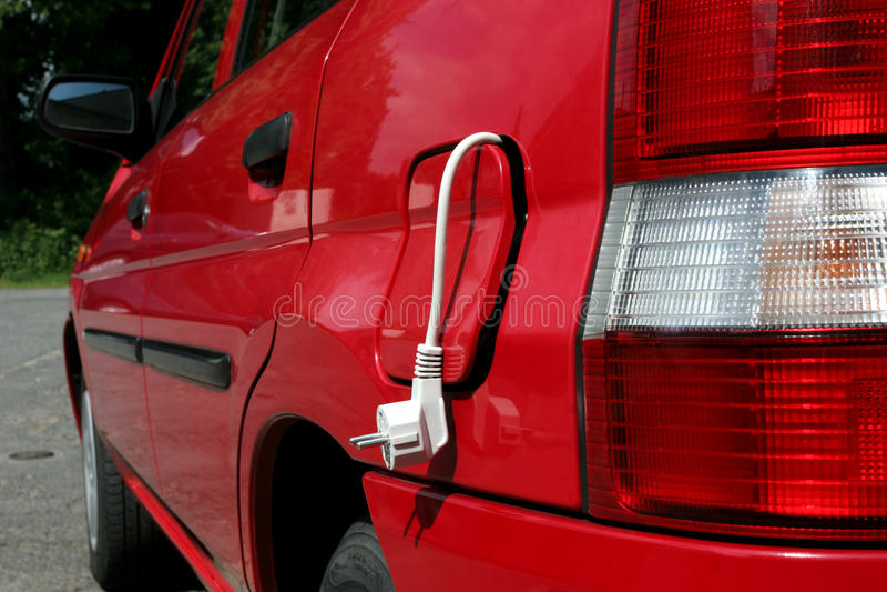 Elektrische Auto royalty-vrije stock foto