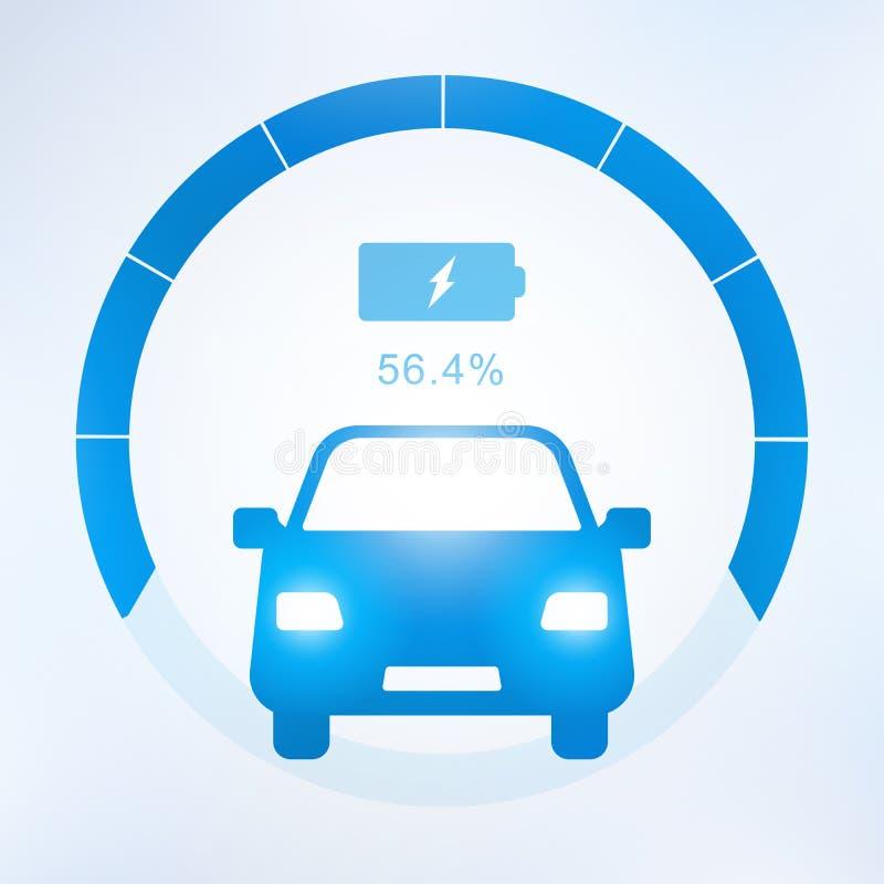Elektrische auto en het Elektro het laden pictogram van het postsymbool stock illustratie