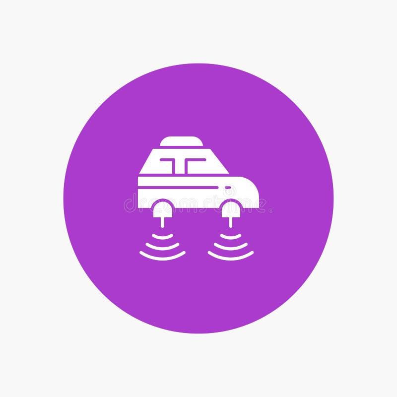 Elektrische auto, Netwerk, Smart, wifi stock illustratie